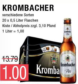 Krombacher Kasten für 1€