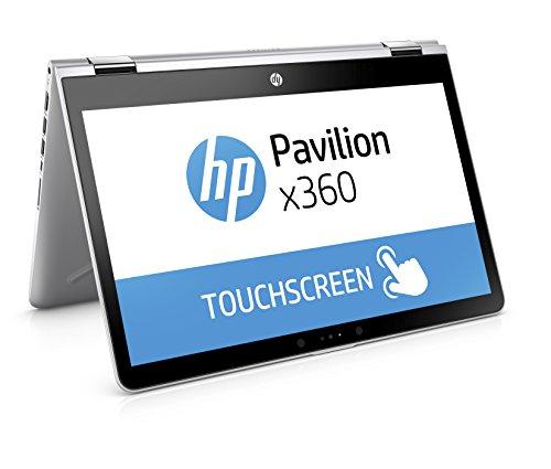 [Amazon] HP Pavilion x360 14-ba026ng (14 Zoll / FHD Touchscreen) Convertible Notebook (Intel Core i3-7100U, 8GB RAM, 256GB SSD, Intel HD-Grafikkarte 620, Windows 10 Home 64) silber
