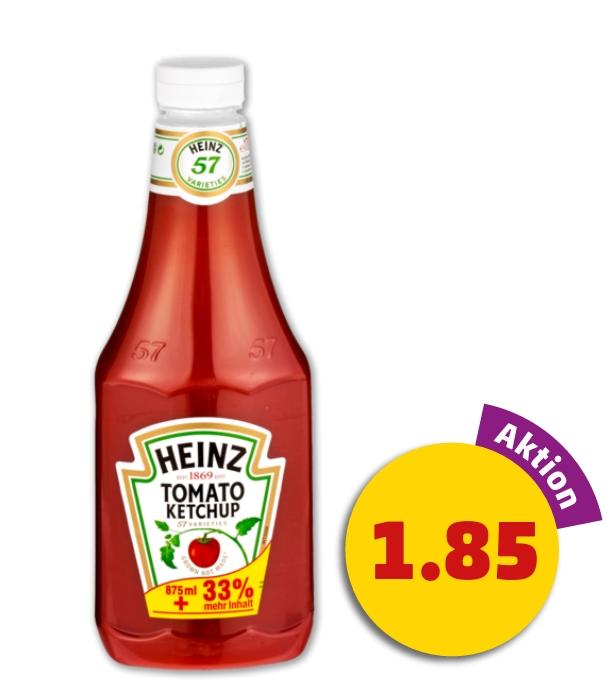 Heinz Tomato Ketchup mit 33% mehr Inhalt (1170 ml) für nur 1,85€ @ Penny Framstag (17.-18.11.)