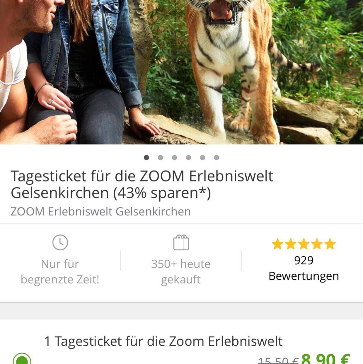 Zoom Erlebniswelt Gutschein bei Groupon