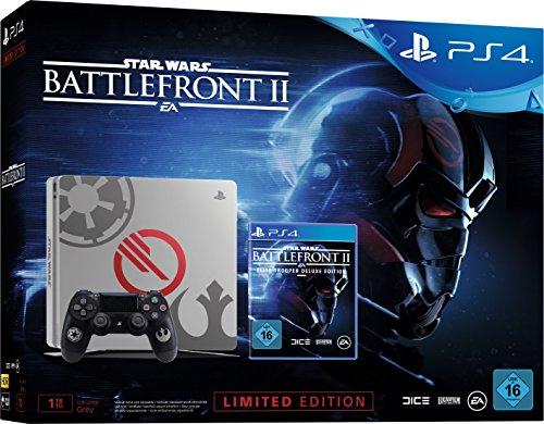 PlayStation 4 Slim (1TB) Limited Star Wars Battlefront 2 Design inkl. Star Wars Battlefront II Elite Trooper Deluxe Edition für 299€ (Amazon)