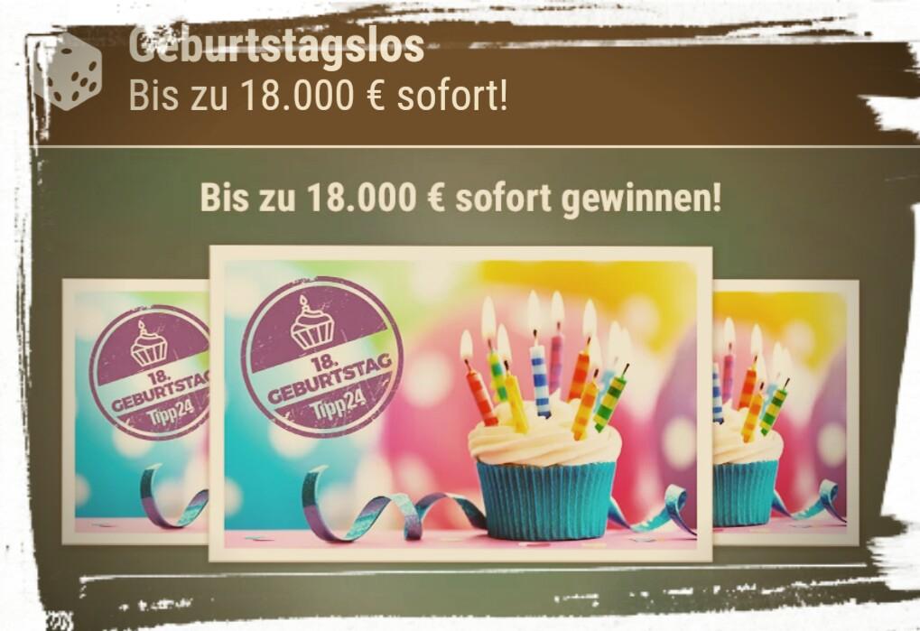 Tipp24 Geburtstagsrubbellos für 99ct