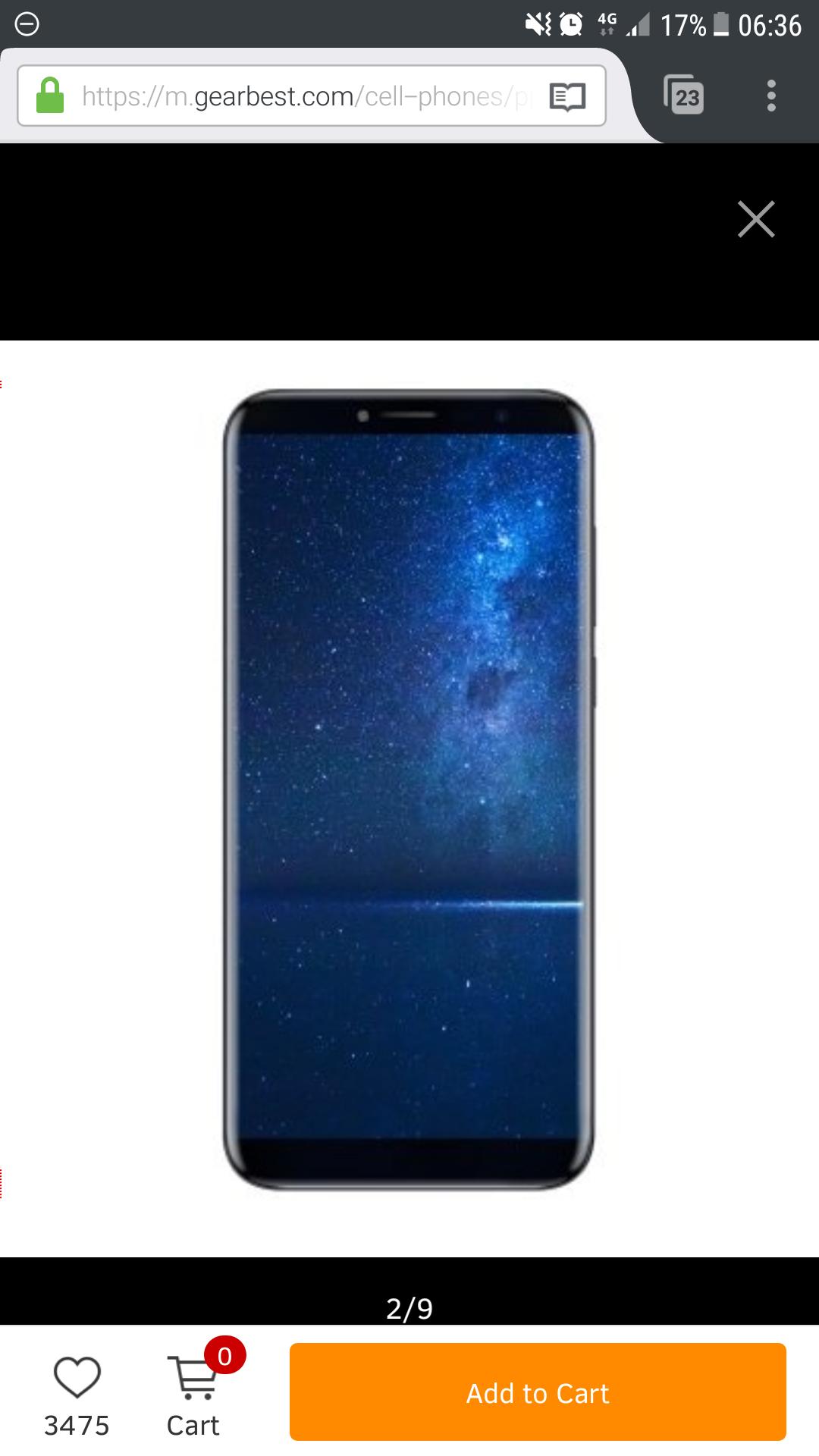 Cubot X18 - Gearbest.com (4G Smartphone  Full Screen 3GB RAM 32GB ROM Fingerprint Scanner) Band20
