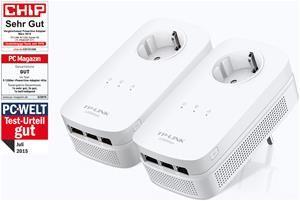 TP-Link TL-PA8030P KIT AV1200 für 74,90€ @ Computeruniverse - 1200 Mbit Powerline Steckerkit mit je 3 LAN-Ports