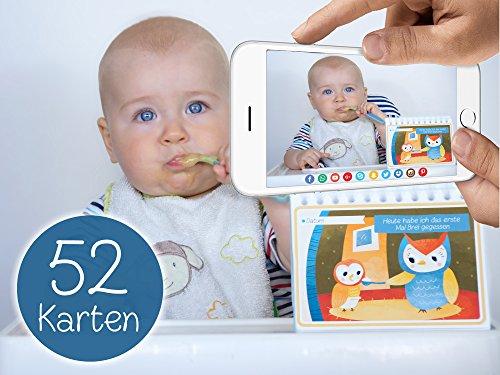 [Amazon-Prime] 52 Baby Karten für das 1.Lebensjahr - Geschenk zur Geburt oder Taufe für 11,99 €