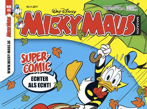 Micky Maus Magazin Miniabo (7 Ausgaben) für 16,87 € mit 15€ Amazon-Gutschein oder Verrechnungsscheck