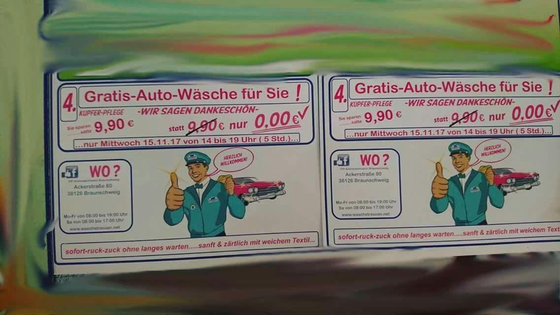 Gratis Auto-Wäsche [Lokal Braunschweig ]