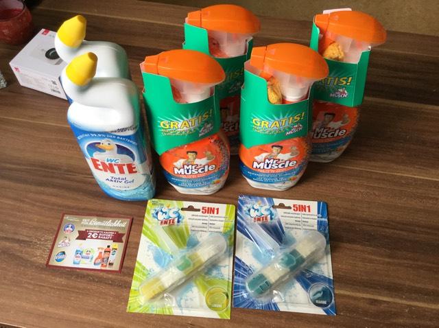 Real - 4€ Sofortrabatt bei Kauf von 4 Artikel WC Ente / Mr Muscle z.B 3x Badreiniger + 1x WC Ente Für 0,46€ . Coupon benötigt!