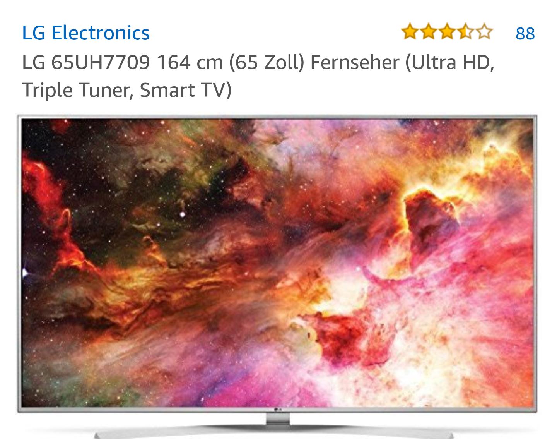 Amazon: LG 65UH7709 UHD (65 Zoll) Fernseher (Ultra HD, Triple Tuner)
