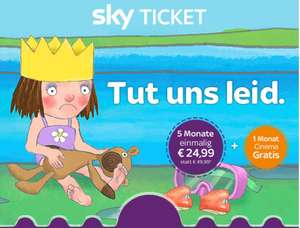 Sky Entertainment Ticket 5 Monate + Sky Cinema 2 Monate für einmalig 24,99 €