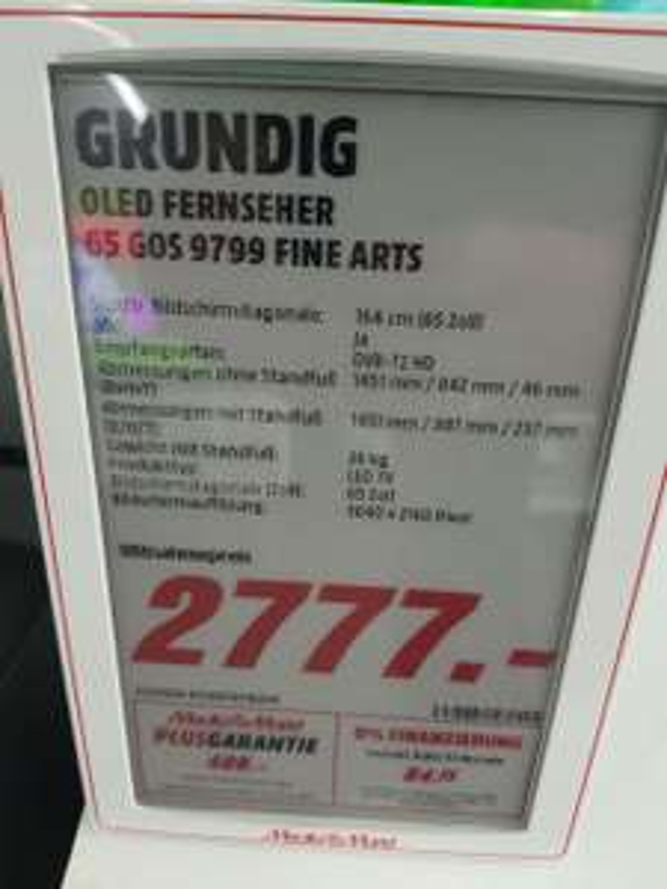 [lokal köln marsdorf] Grundig 65GOS9799