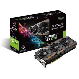 8GB Asus GeForce GTX 1070 Strix Aktiv PCIe 3.0 x16