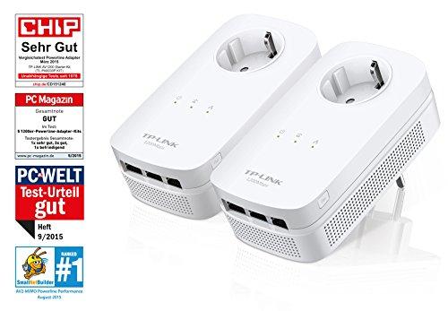 (Amazon.de) TP-Link TL-PA8030P KIT AV1200 Gigabit Powerline Netzwerkadapter(1200Mbit/s, 3 Gigabit Ports) für 74,90€ inkl. Versand