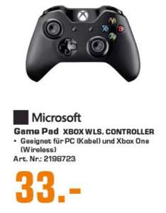 [Regional Saturn Hamburg/Norderstedt] Microsoft Xbox Wireless Controller + Cable for Windows Game Pad Bluetooth Schwarz für PC One S (4N6-00002) für 33,-€