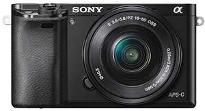 Sony Alpha 6000 Kit 16-50mm 1:3,5-5,6 OSS schwarz für 499,99€ [brands4friends]