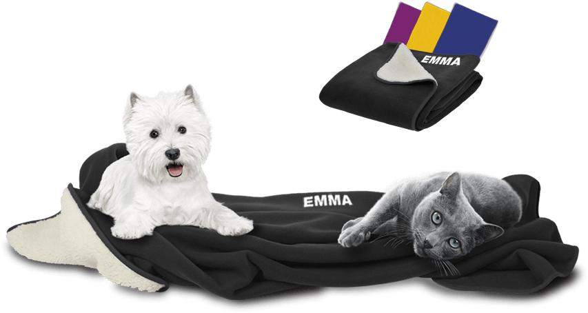 personalisierte Kuscheldecke (Hund/Katze) beim Kauf von Produkten im Wert von 25€