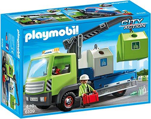 (AMAZON TAGESANGEBOT) PLAYMOBIL Altglas LKW Mit Containern