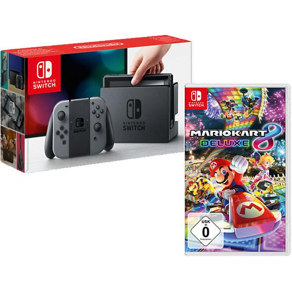 Nintendo Switch Konsole für 297,94€, Nintendo Switch inkl. Mario Kart 8 Deluxe für 342,94€, New Nintendo 3DS XL SNES Edition für 171,94 € (MyToys)