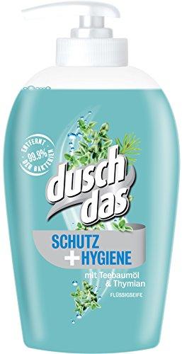 AMAZON Spar-Abo: Duschdas Flüssigseife Schutz & Hygiene mit Teebaumöl & Thymian, 6er Pack nur 3,85 Euro