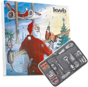 [eBay] kwb Adventskalender 2017 (Flaschenöffner, Maßband, Bit Box, Cuttermesser, Bohrersatz, Innensechskantschlüssel, Leuchte)