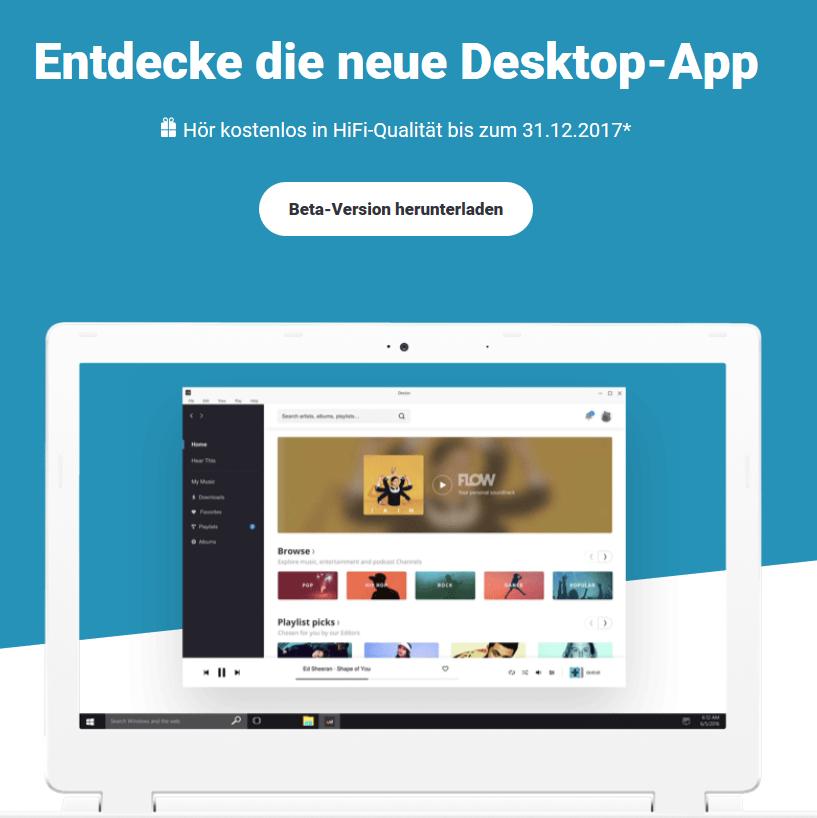 Deezer HIFI bis 31.12.2017 kostenlos für Premium+ Nutzer