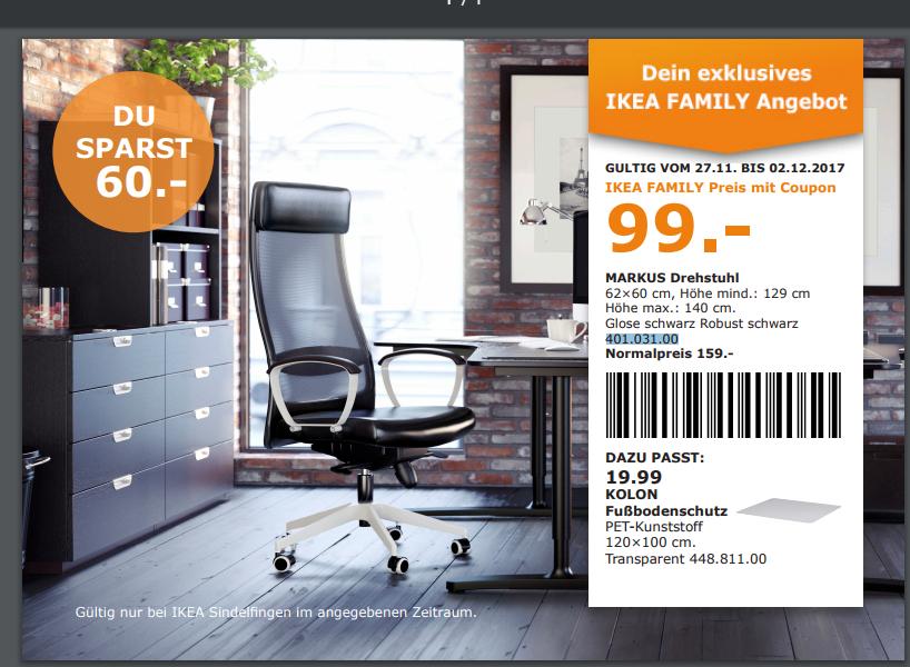 [LOKAL] IKEA Sindelfingen Drehstuhl Markus aus Leder  (27.11.-02.12.17)