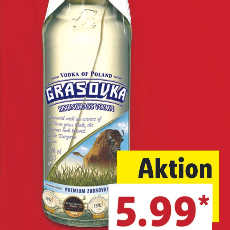 Grasovka, der polnische Vodka, 0,5l für nur 5,99 € bei (Lidl)