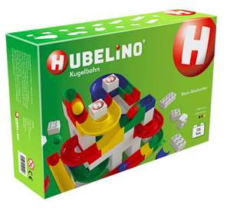 Hubelino Kugelbahn mit 106 Teilen - kompatibel mit Lego Duplo