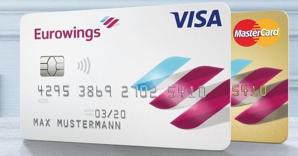 10.000 Boomerang Club Meilen (1 Prämienflug innerhalb Europas) für die im 1. Jahr gebührenfreie Eurowings Kreditkarte Classic oder Gold