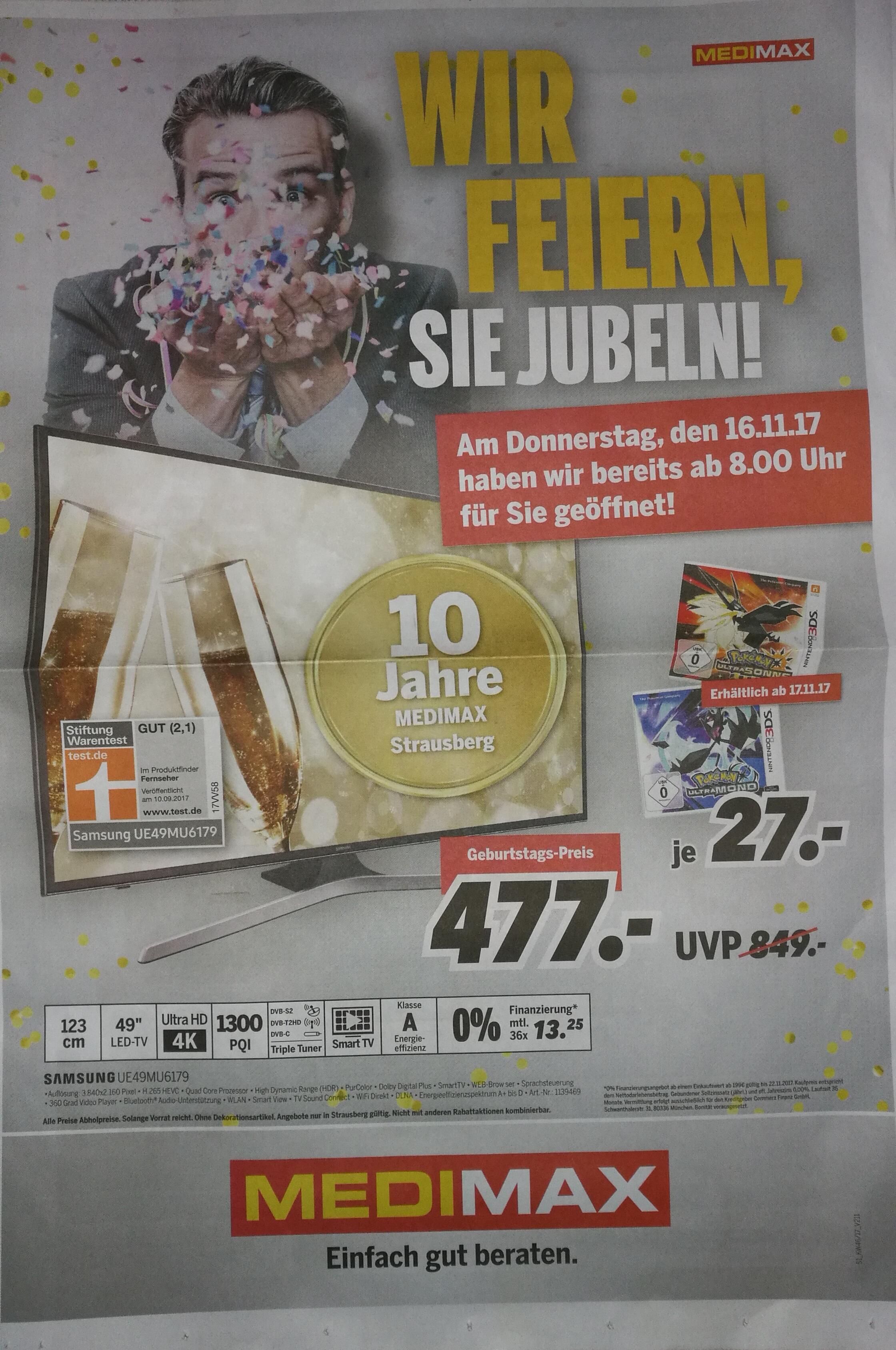 [Lokal] Medimax Strausberg Geburtstagsdeal z.B. Sonos Play:1 (weiß/schwarz) für 166€