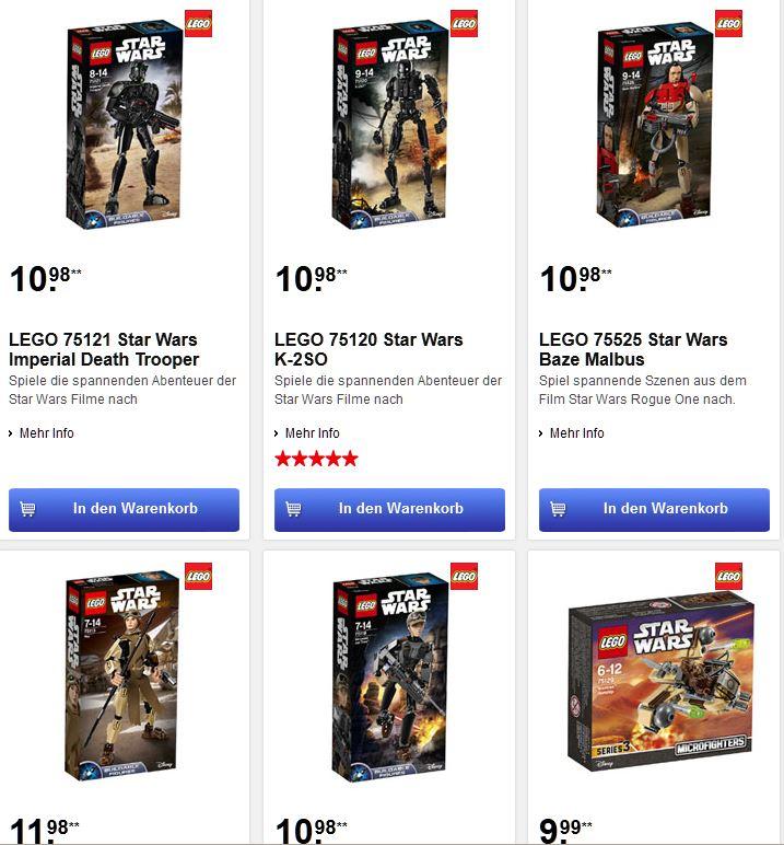 [Intertoys]5 verschiedene Lego Star Wars Figuren auf 10,98 - 11,98 reduziert