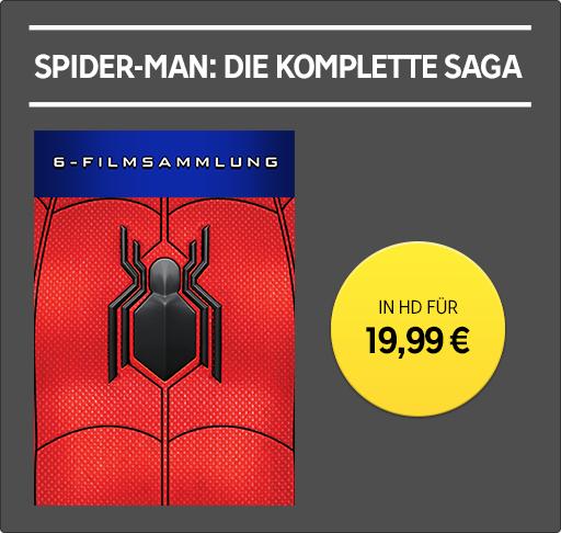 Spider-Man - Alle 6 Teile als UHD-Stream bei Rakuten.tv für 19,99 Euro