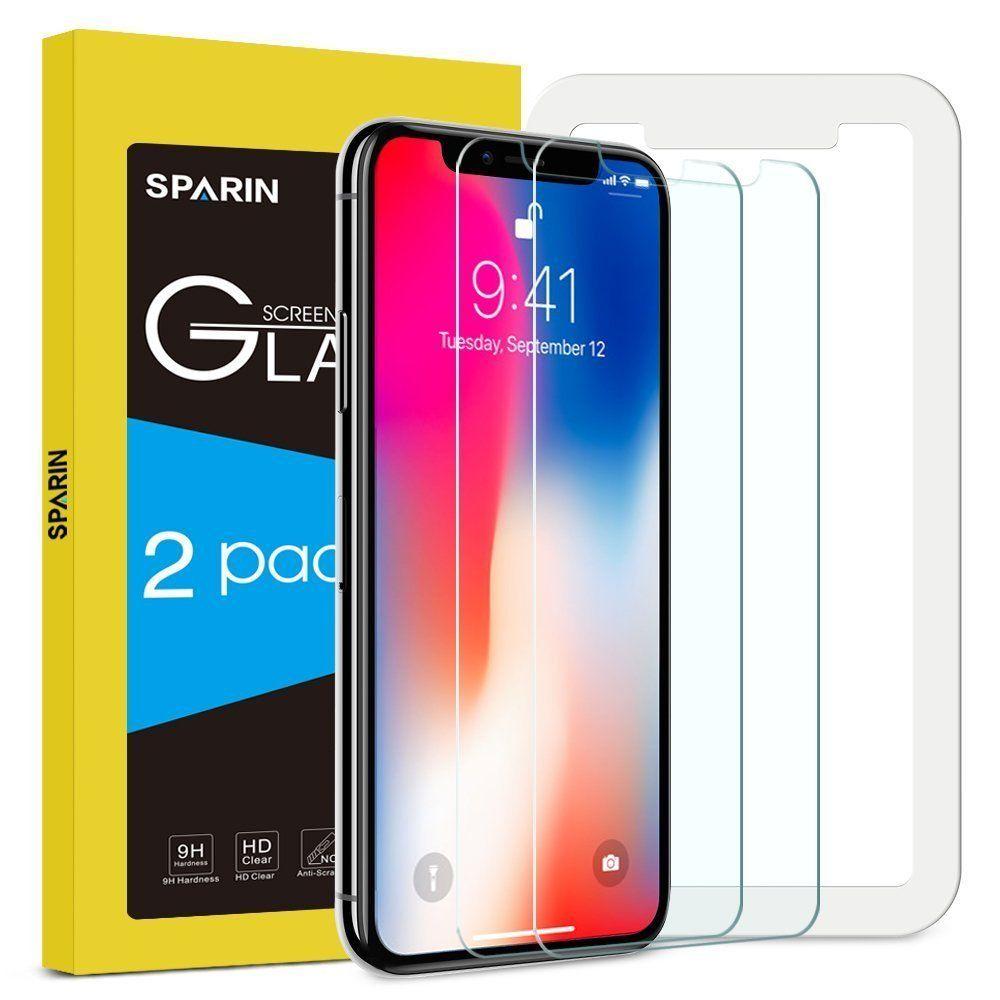 Amazon.de Prime [Gratis] 2 Stück iphone X Schutzfolie, Displayschutzfolie Panzerglas