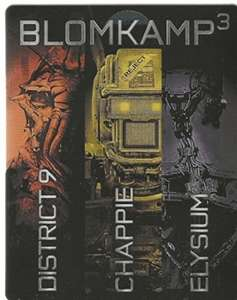 Chappie / District 9 / Elysium Blomkamp 3 Box - Limited Edition Steelbook (Blu-ray) für 17,93€ (Alphamovies)