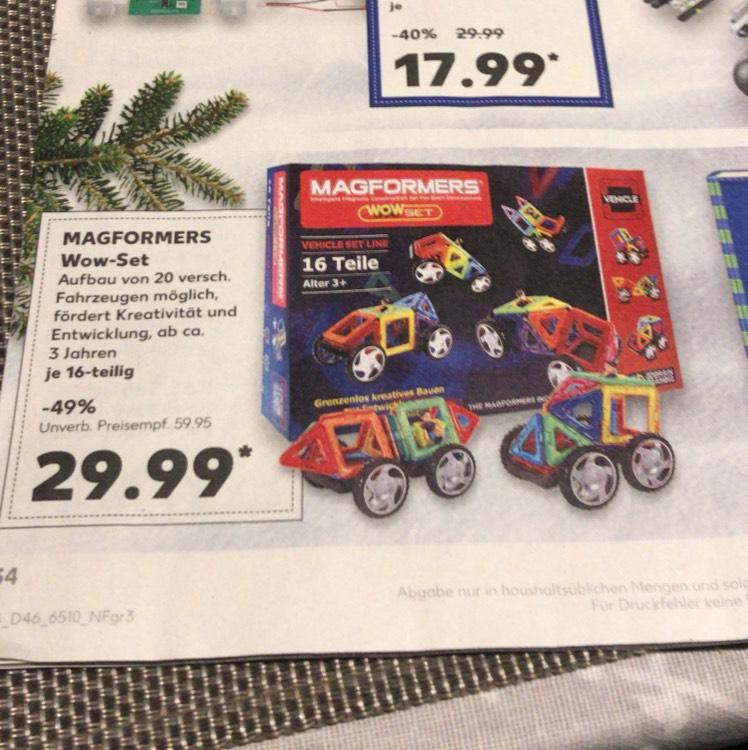 [Kaufland] Magformers Wow-Set Vehicle 16 Teile