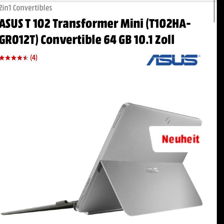 Asus T102HA-GR012T 25,6 cm (10,1 Zoll) bei EBay Plus