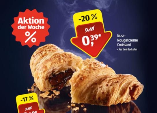 [ALDI SÜD] Krümeliges Nuss-Nougatcreme Croissant für nur 0,39€ (20.-25.11.2017)