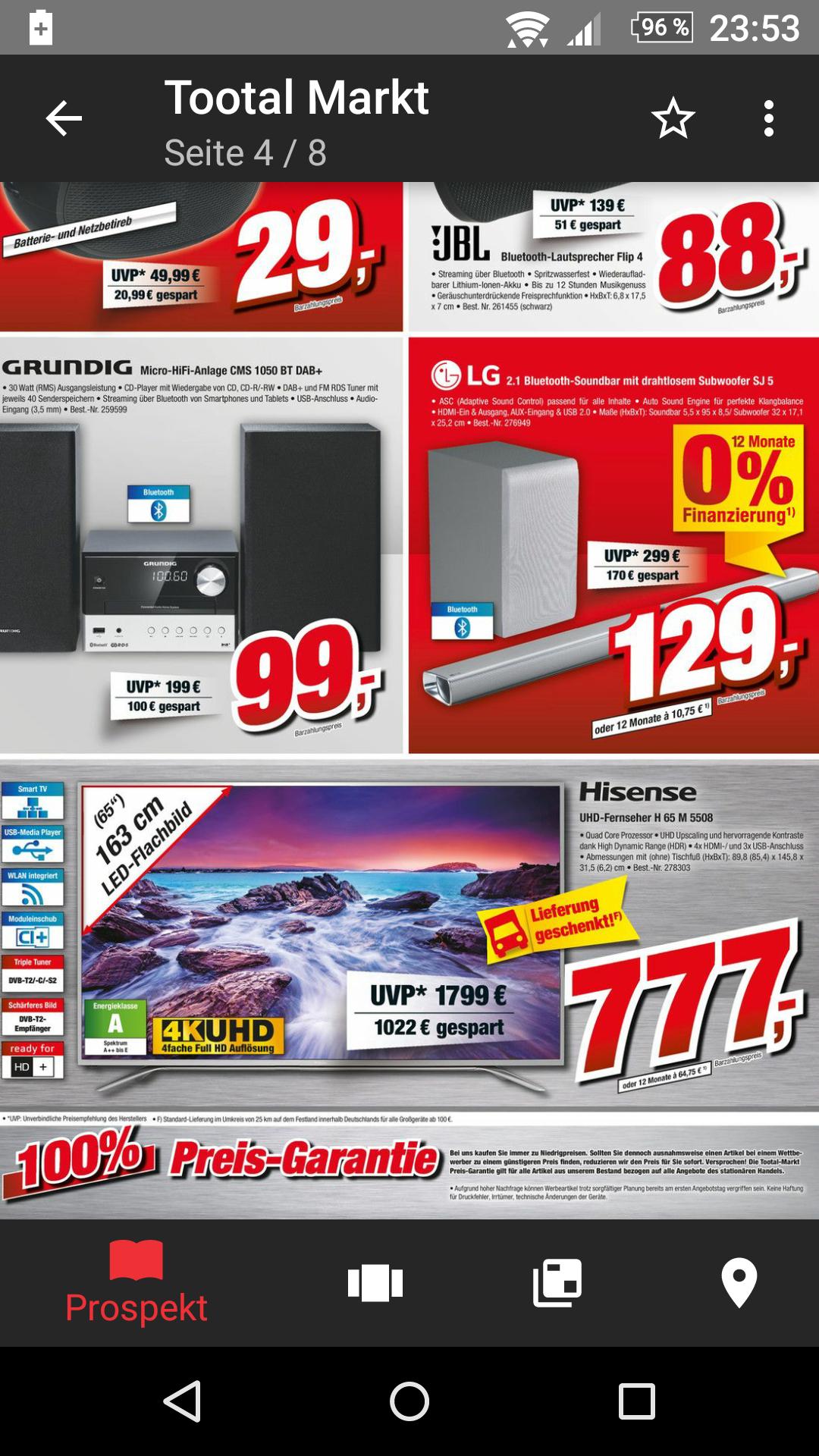 Lokal TootalMarkt Vechta Wieder zum Bestpreis!Hisense H65M5508 UHD TV (65'' UHD Edge-lit HDR, 1000Hz [interpol.], Triple Tuner, 4x HDMI, 3x USB, Smart TV, VESA