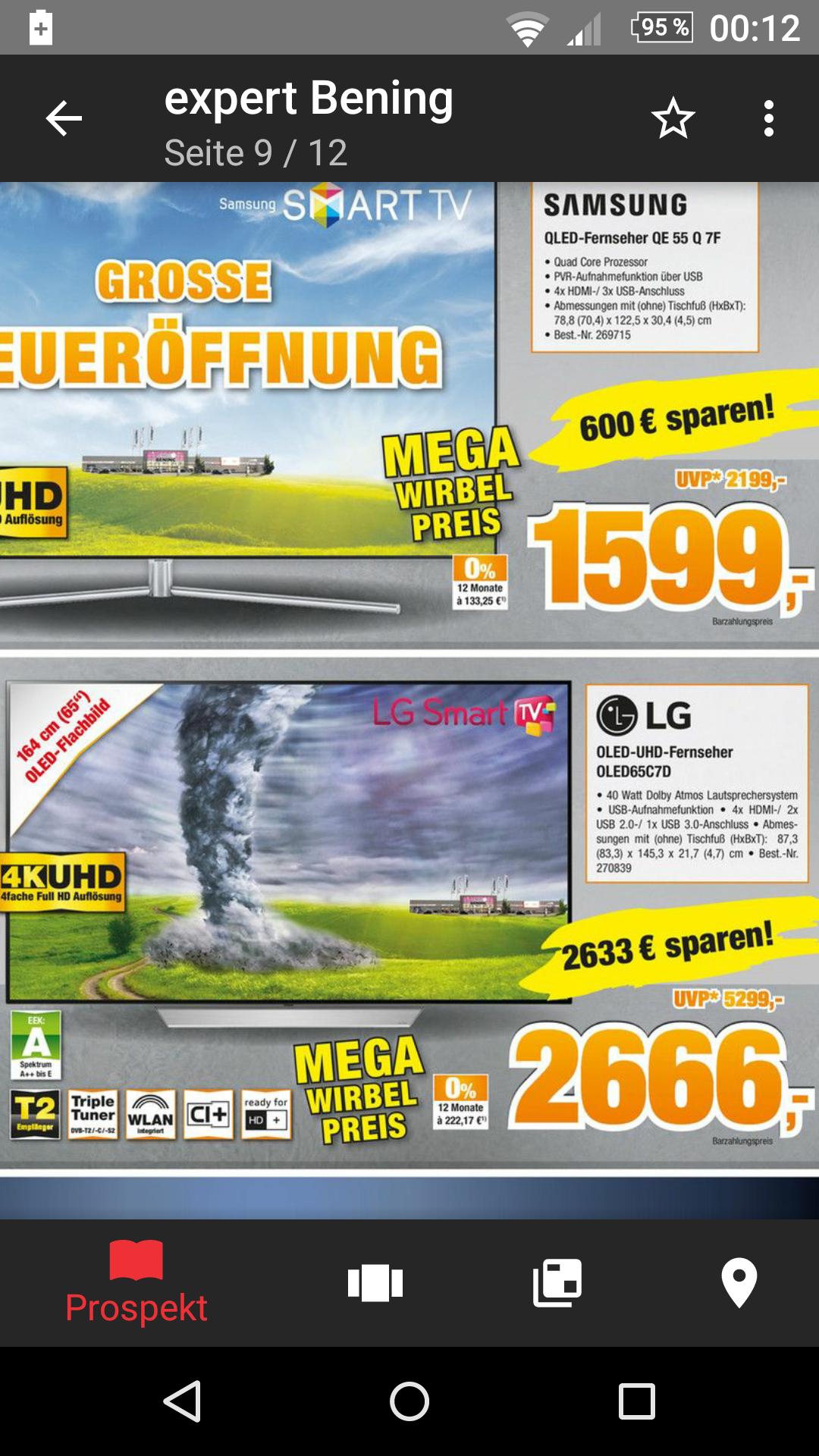 Expert Benning Lokal Norddeutschland LG OLED65C7D Deutsche Version 2666€ !