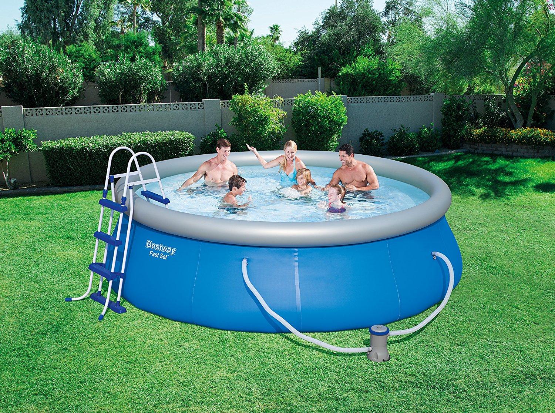 [AMAZON.IT Prime] Bestway Pool Komplett-Set, Ø 366cm x 91cm mit Filterpumpe