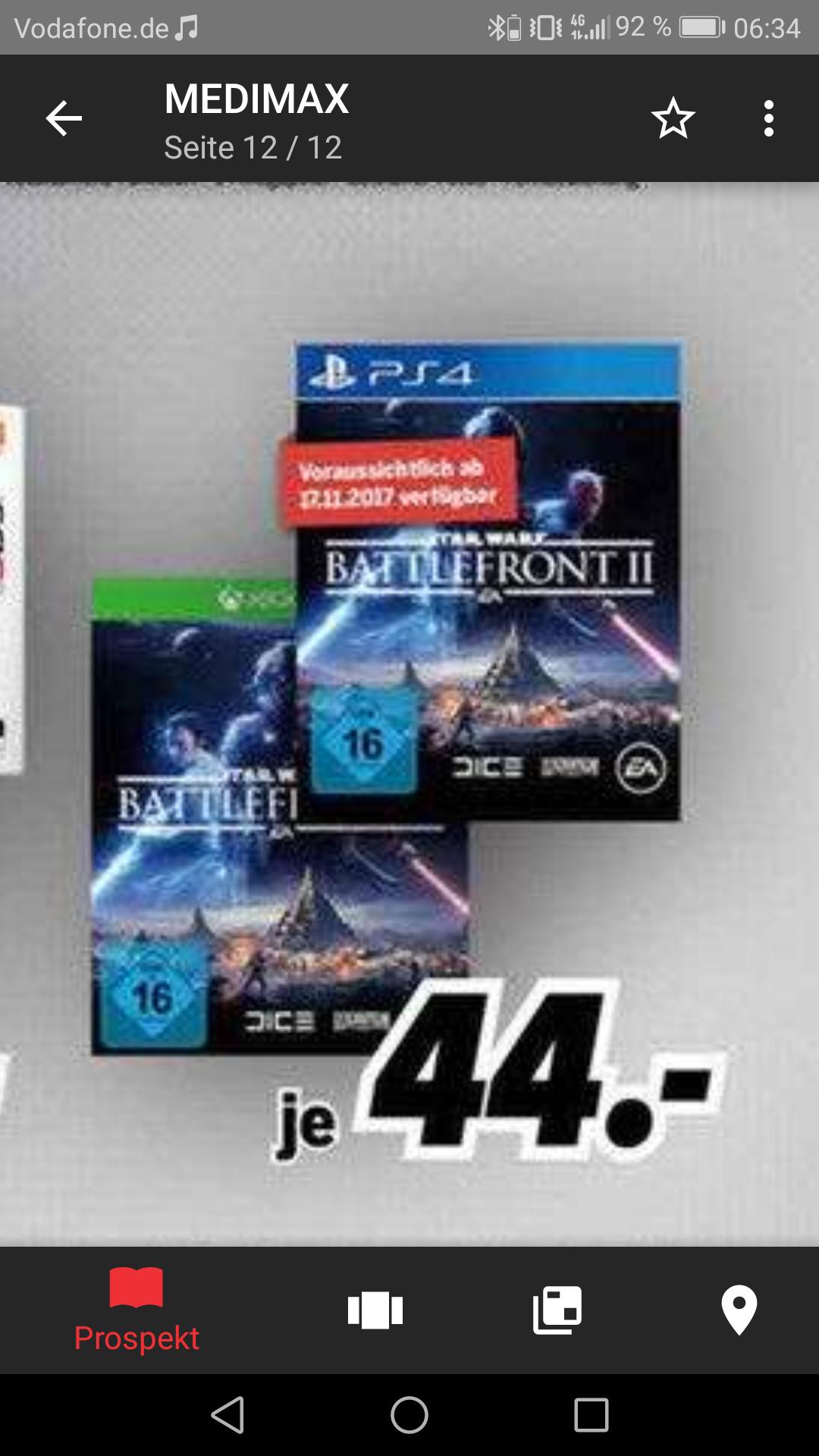 (Hamburg) Star Wars: Battlefront 2 für PS4/Xbox One