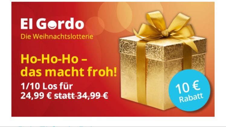 Lottohelden 10€ Rabatt auf El Gordo
