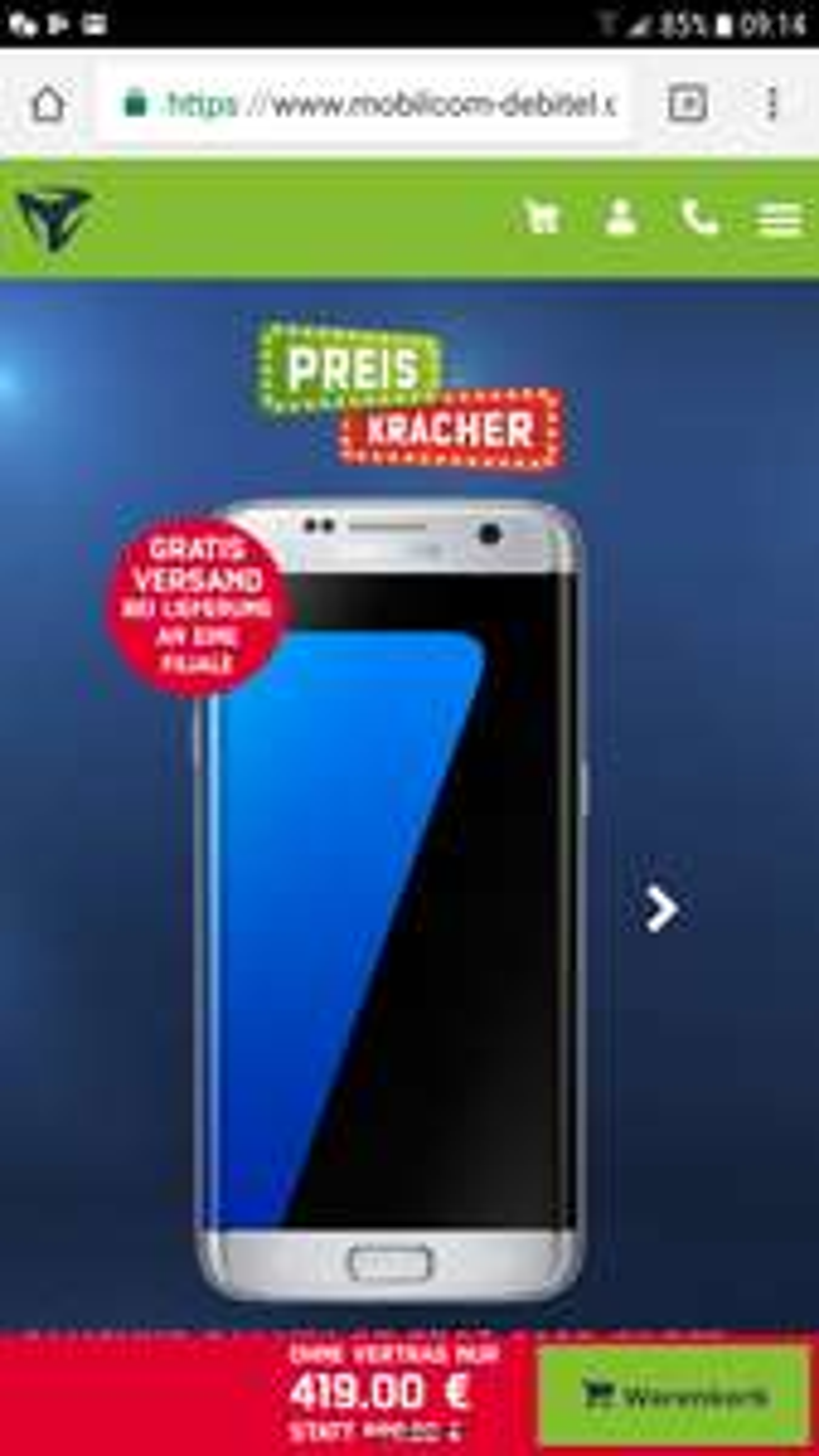 [Mobilcom] Samsung S7 Edge (on/offline -- alle Farben)