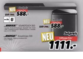Bose Soundtouch 300 + Bose Acoustimass 300 für 1111 € Lokal MediMax Hamburg-Barmbek