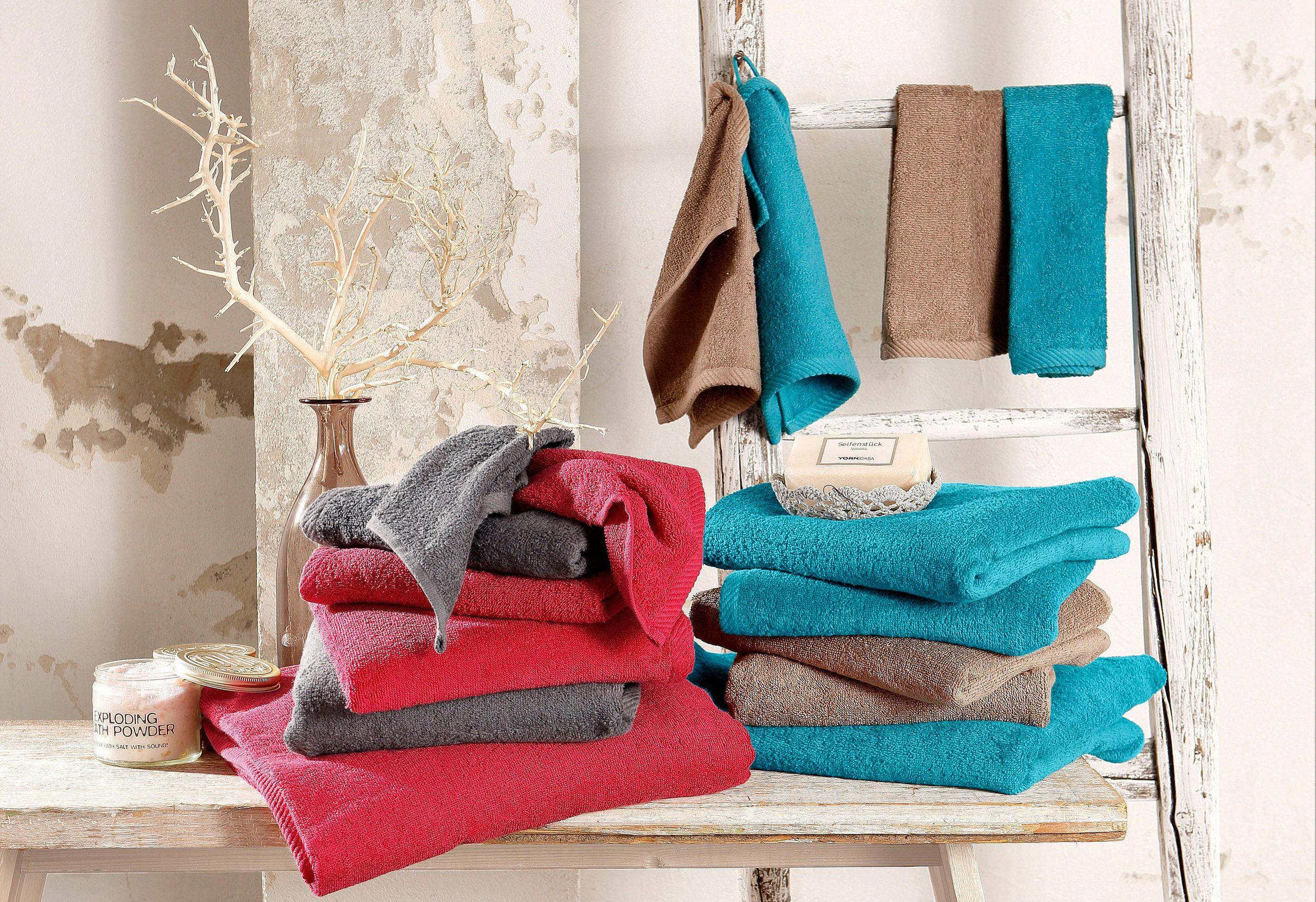 (Otto) Handtuch Set, my home, »Lisa«, aus reiner Baumwolle