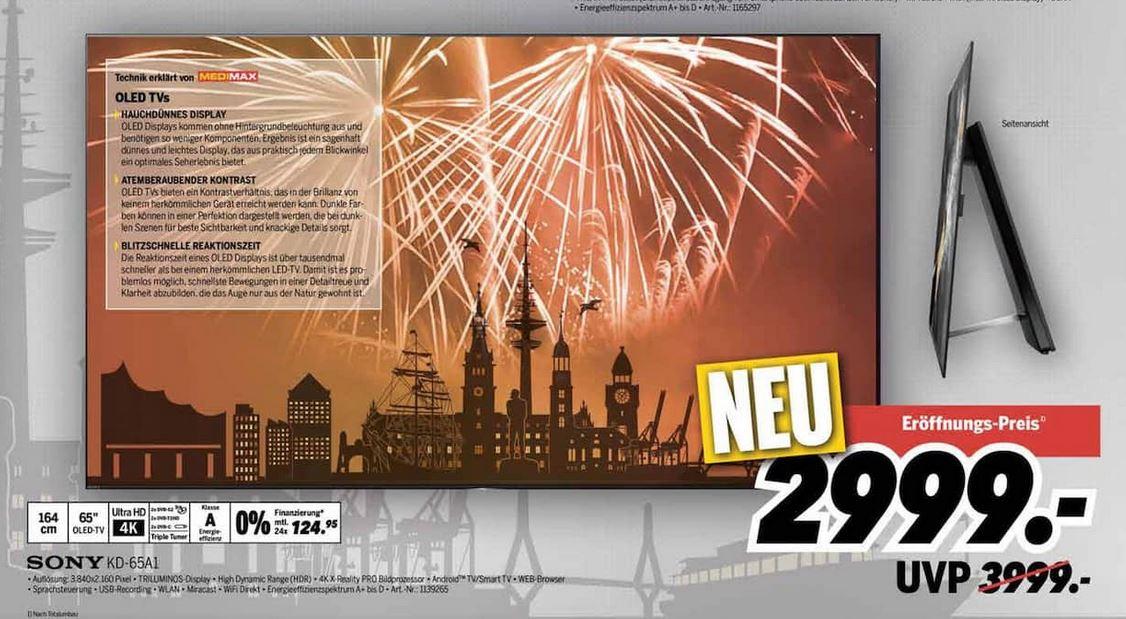[Hamburg] Medimax - Sony KD65 A1