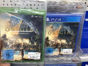 Assassins Creed origins ps4 und Xbox one im Mediamarkt Köln City Dom