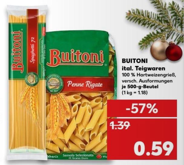 [KAUFLAND] Buitoni ab 23/11 je 500-g-Beutel 0.59 / 3xkaufen zum einzelpreis von 26 Cent
