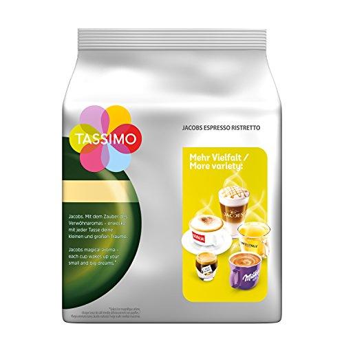 [Amazon-Sparabo]Tassimo Jacobs Espresso Ristretto, 5er Pack Kaffee T Discs (5 x 16 Getränke), ab 14,08