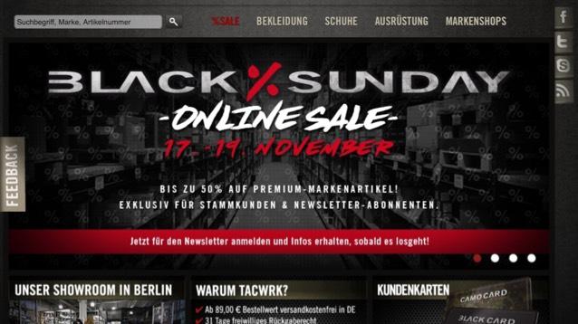 Black Sunday vom 17.-19.11 bei Tacwrk bis zu 50%